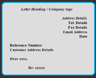 Sample business letter and format letter heading spiritdancerdesigns Gallery