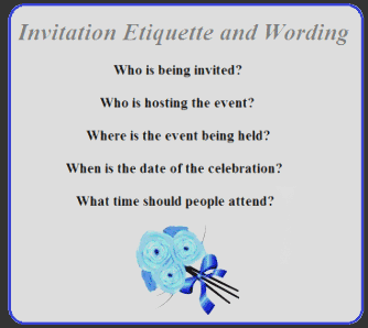 Invitation etiquette and wording altavistaventures Gallery
